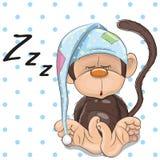 睡觉猴子 皇族释放例证