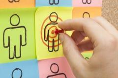 瞄准您的客户现有量 免版税库存照片