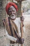 瞎的Rabari部落成员 免版税图库摄影