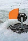 矛的滑车在冬天 免版税图库摄影