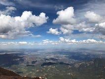 矛高峰科罗拉多泉雨和雷暴 免版税库存照片