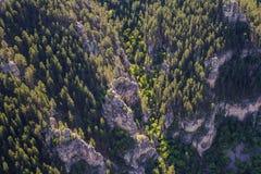 矛鱼峡谷,南达科他鸟瞰图  免版税库存照片