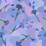 矢车菊紫罗兰样式 图库摄影