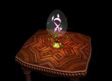 知名度乳腺癌鸡蛋 库存例证