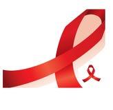 知名度背景红色丝带 免版税库存照片