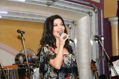 知名的乌兹别克人和俄国人歌手Shakhzoda 库存照片
