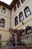 知名的土耳其房子阻止,马其顿 免版税库存照片