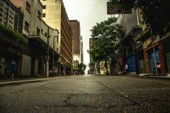 知名的奥古斯塔街道的看法,在São保罗 免版税库存照片