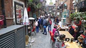 知名的旅游目的地,天狮訾犬齿街道,上海 免版税库存图片