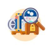 知识产权 版权的概念软件的,书,影片,给予专利等 法律的专利和准许 免版税库存图片