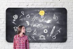 知识和智慧概念 免版税库存图片