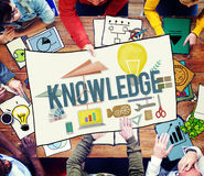 知识学校课程程度图表概念 免版税库存图片