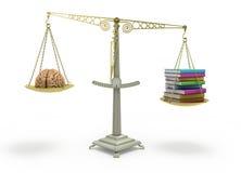 知识概念书胜过脑子平衡培养它 向量例证