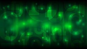 矩阵与二进制编码,在抽象未来派网际空间,大数据向量例证的数字代码的绿色背景 向量例证