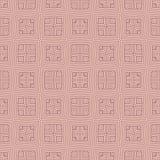 矩阵摆正在线无缝的背景样式例证的n圈子 库存图片