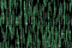 详述的矩阵代码 免版税库存照片