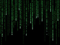矩阵代码 免版税库存照片