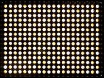 矩阵300黄色和白色LEDs 有易变的色温的凯尔文3200-5500照明设备 供给动力由可再充电 免版税库存图片