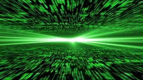 矩阵3d -飞行通过被加强的网际空间,在的光ho 免版税库存图片