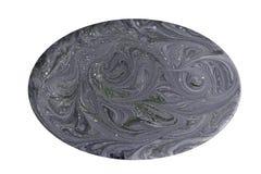 短剖面宝石纹理的模仿 在白色背景隔绝的自然大理石纹理 矿物石头 免版税库存图片