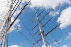 短匙萨克岛格林威治的帆柱 免版税库存照片