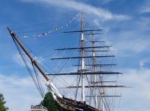 短匙萨克岛,格林威治,伦敦,英国弓  图库摄影