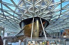 短匙萨克岛-在天花板的几何样式 免版税库存照片