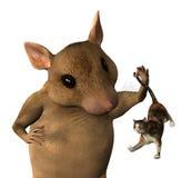 短发的幻想鼠标 库存图片