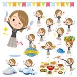 短发黑色高领的women_food节日 库存图片