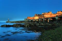 短号城堡根西岛 免版税库存照片