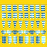 短打慕尼黑啤酒节巴法力亚旗子样式的 免版税库存图片