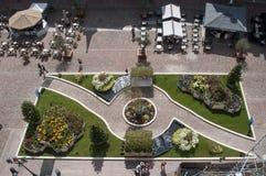 短暂庭院上面vieuw在主要地方 免版税库存照片
