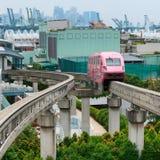 短的单轨铁路车火车 库存图片