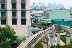 短的单轨铁路车火车 免版税库存图片
