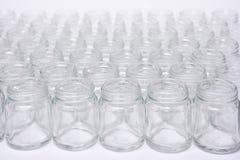 短的玻璃瓶没有盖帽 库存图片