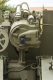 短程高射炮1943年,机械拖曳155/23 :接收器, 免版税库存照片
