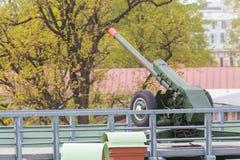 短程高射炮d-30 免版税库存照片