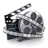 短管轴和影片 免版税库存照片