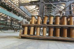 短管轴和设备在工厂 免版税库存照片