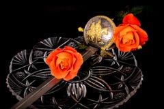 短箭和玫瑰 库存照片