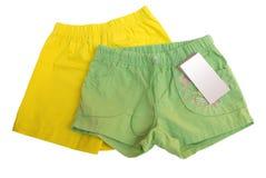 短裤二 库存图片