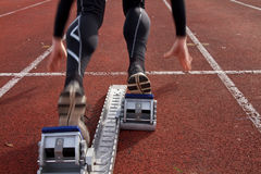 短跑起始时间 库存照片