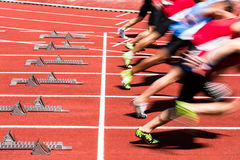 短跑起始时间 免版税库存图片