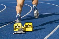 短跑选手开始 图库摄影