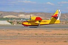 短离开并且登陆航空器的类型 免版税库存照片