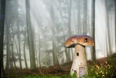 矮子森林房子 免版税图库摄影