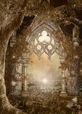 矮子的世界的不可思议的门户 皇族释放例证