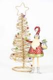矮子金黄圣诞老人结构树 免版税库存照片