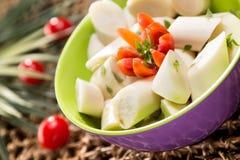 矮棕榈条沙拉 免版税库存图片