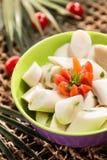 矮棕榈条沙拉 免版税库存照片
